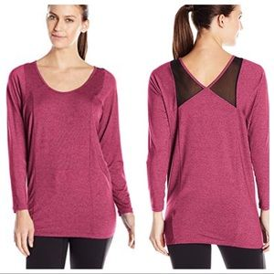 NWT Lucy Take A Pause Tunic Mesh Detail Beet Red